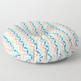 Ordered Peaches by the Sea Floor Pillow