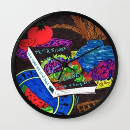 MFK Fisher Still Life with Fruit Wall Clock