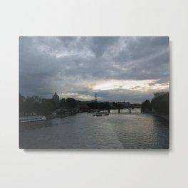 Paris at Dusk Metal Print