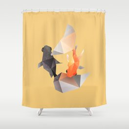 Butterfly Tail Goldfish. Shower Curtain