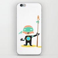 super hero iPhone & iPod Skins featuring Super Hero by La Lanterne