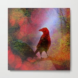 The clearing of king crow   ( collaboration with the talented artist Agostino Lo coco) Metal Print
