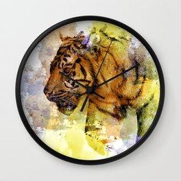 Digital Tiger Art Wall Clock