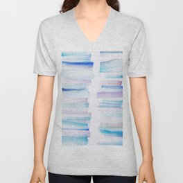 11 | 181101 Watercolour Palette Abstract Art | Lines | Stripes | Unisex V-Neck