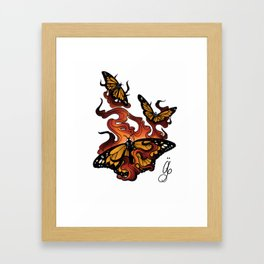 Melted Butta Framed Art Print