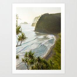 Polulu Valley - Big Island, Hawaii Art Print