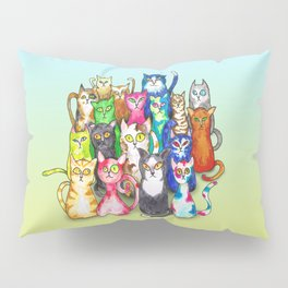 Gang of colorful cats Pillow Sham