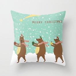 Bears as Three Kings Throw Pillow