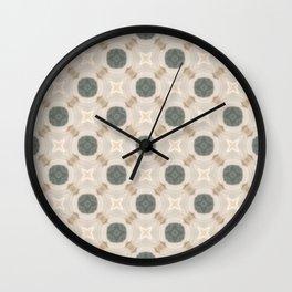 Tile Pattern Neutral Wall Clock
