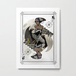 Queen of Carbon Metal Print