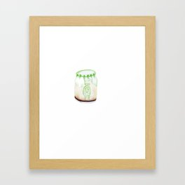 Bear Pudding, Japanese conbini sweets illustration Framed Art Print