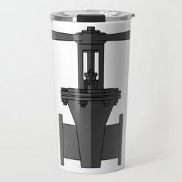 Gate valve in beautiful design Fashion Modern Style Travel Mug