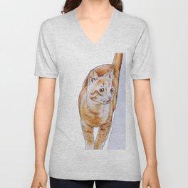 Sweet Tabby Cat Unisex V-Neck