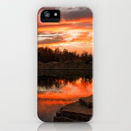Sunset at Halibut Point Quarry iPhone Case