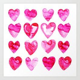Heart Speckle Art Print