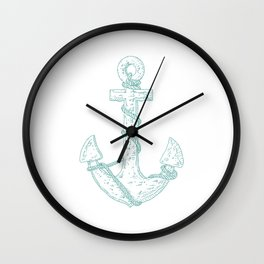 Anchor (Nautical Collection) - Turquoise Wall Clock