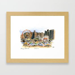 Coney Island on the Fourth of July Framed Art Print