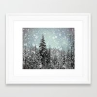snow Framed Art Prints featuring Snow by Pure Nature Photos