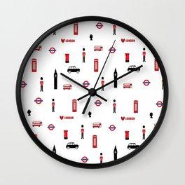 London pattern.London city.England. Wall Clock
