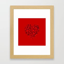 big heart 04 Framed Art Print