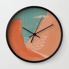 Warm Canyons - What Is Meant To Be - Quote Wall Clock