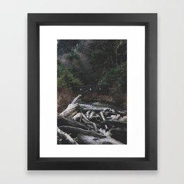 Indian Beach Oregon Framed Art Print