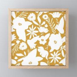 Finley Floral Goldenrod Yellow Framed Mini Art Print