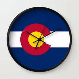 Colorado State Flag Patriotic Design Wall Clock