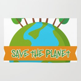 Save The Planet Shrits Environmental Awareness Earth Day Rug