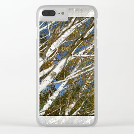 AUTUMN BIRCH TREES Clear iPhone Case