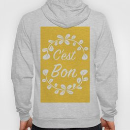 Inspirational Quote French Typography Print in Yellow Hoody