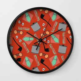 Vintage Male Essentials Wall Clock