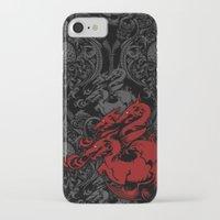 targaryen iPhone & iPod Cases featuring Dragon Damask by Jimiyo