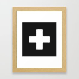 Plus Mark Framed Art Print