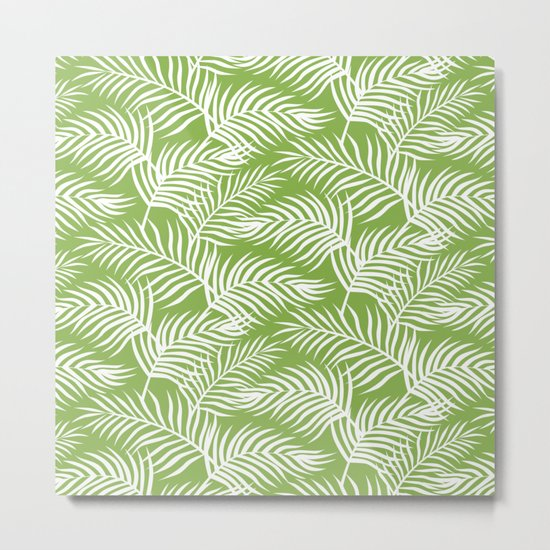 Palm Leaves_Greenery Metal Print