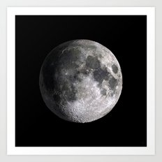 The Full Moon Super Detailed Print Art Print