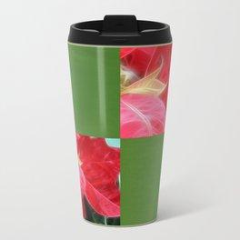 Mottled Red Poinsettia 2 Blank Q5F0 Travel Mug