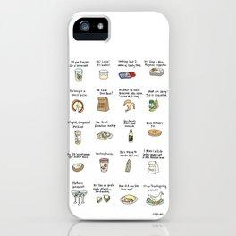 Foods of Arrested Development - Season 4 iPhone Case