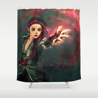 alicexz Shower Curtains featuring Traverse by Alice X. Zhang
