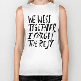 Whitman: We Were Together Biker Tank
