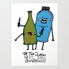 the two bottles Art Print