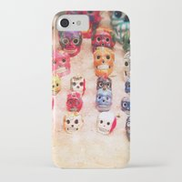 sugar skulls iPhone & iPod Cases featuring Sugar Skulls by Jenndalyn