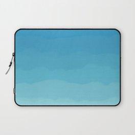 Powder Blue, Periwinkle Lacey Waves Laptop Sleeve