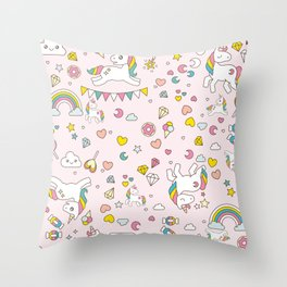 Unicorn Pattern Throw Pillow