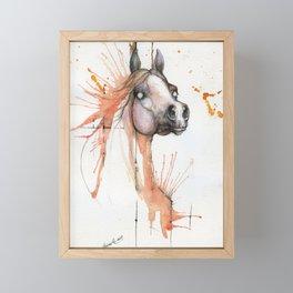 Equine watercolor art Framed Mini Art Print