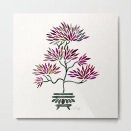 Bonsai Tree – Fuchsia Palette Metal Print
