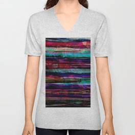 bohemian abstract painting Unisex V-Neck