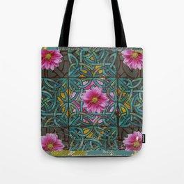 GRUNGY ANTIQUE PINK FLORAL CELTIC PATTERN Tote Bag