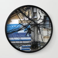 vietnam Wall Clocks featuring Vietnam Telecom by Maria Faith Garcia