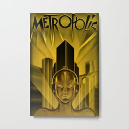 "Vintage 1927 ""Metropolis"" Movie Lithograph Advertisement Poster Metal Print"
